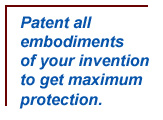 Patent all embodiments of your invention to get maximum protection in your patent strategy and management.